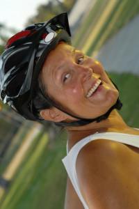 Senior bicyclist